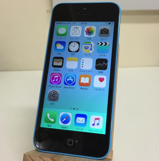 SIMフリー iPhone5cアメリカ版 青16GB 全キャリア可/格安sim可がいい